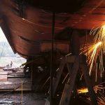 Čas in delo za popravilo ladij